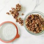 This granola is totally addictive. Baking it over a long time in a low oven makes it super crunchy, and it's detox-friendly so you can snack guilt-free. Eat with milk, over yogurt in a parfait, or plain by the handful. on goop.com. http://goop.com/recipes/clean-granola/