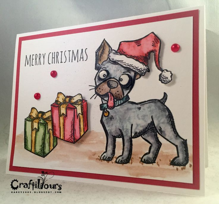 Karen N here today. I just got my hands on the Tim Holtz Crazy Dogs. I absolutely adore this stamp line, and I couldn't wait to ink them up! My video today shows you a card from beginning to end and also shows off a few others that I made: On my first two cards, [&hellip