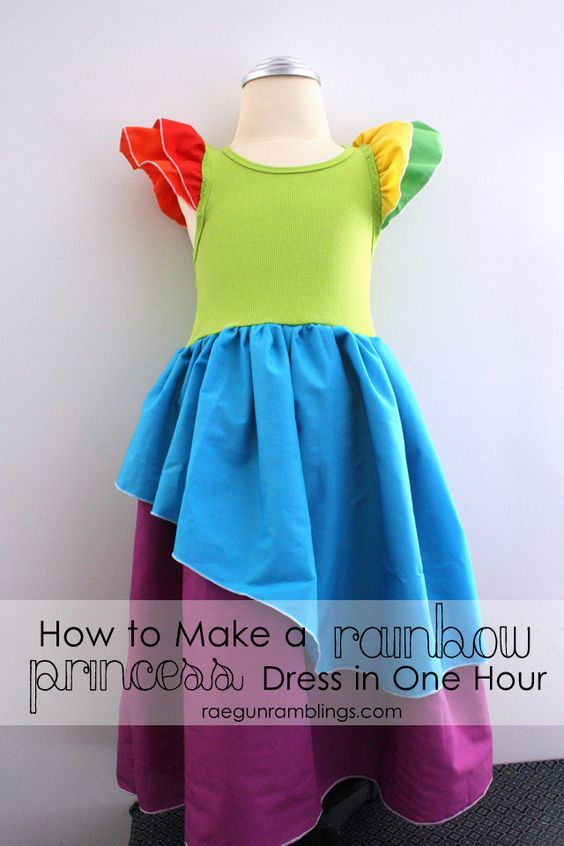 Easy Rainbow Princess Dress Tutorial - Rae Gun Ramblings