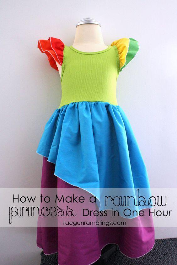 Easy Rainbow Princess Dress Tutorial - Rae Gun Ramblings