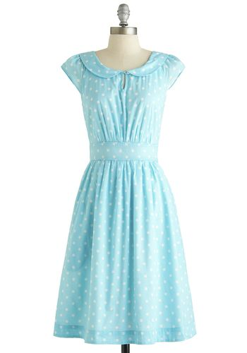 Set Me Freesia Dress in Dots, #ModCloth - Reminds me of the dress Maria wears in the Sound of Music