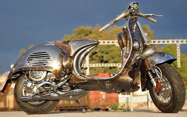 Steampunk Vespa Piaggio scooter