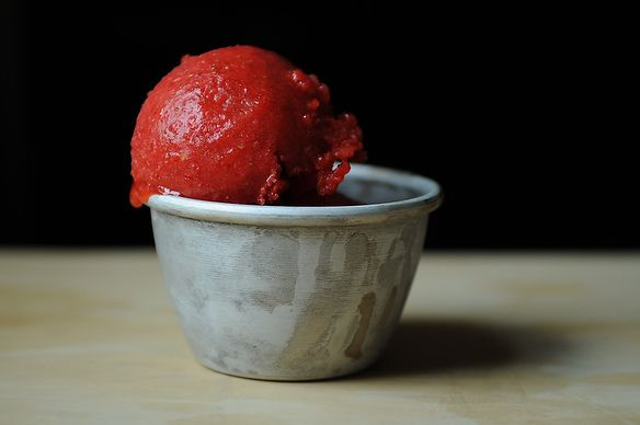 Strawberry sorbet- Yes...use the whole lemon! As for sugar, one reviewer said it was great with 1/2 of the sugar called for and another said to use a sugar substitute product called Whey Low (Whole Foods??)