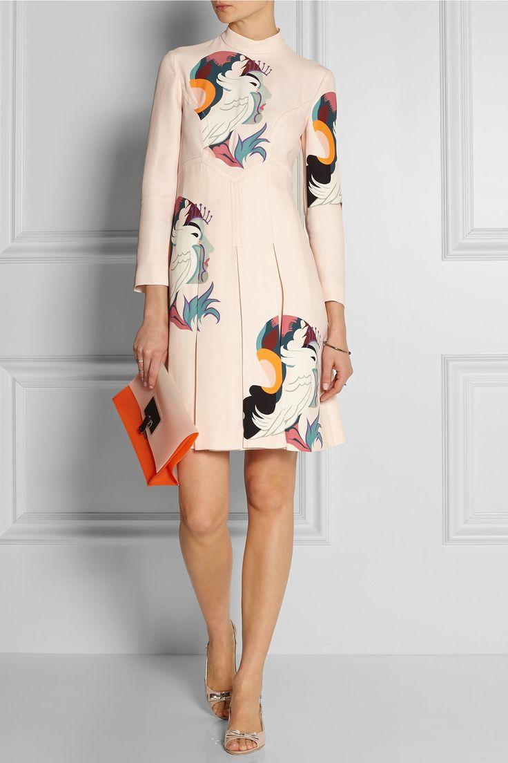 Miu Miu Printed cady dress NET-A-PORTER.COM