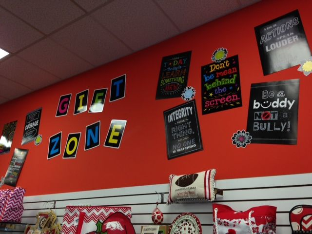A fun way to display inspirational quotes! These are the new Inspire U Posters from CTP at Learning Oasis Ft. Smith AR