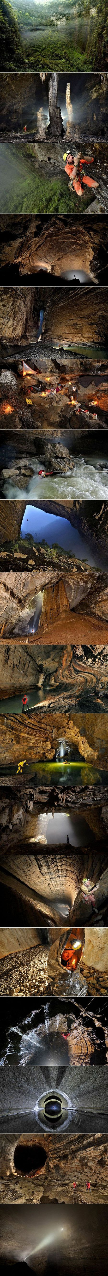 18 Mind-Blowing Pictures of Er Wang Dong, a Giant Cave with its Own Weather System - TechEBlog