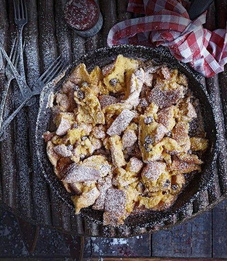 kaiserschmarrn ~ austrian shredded pancakes with rum raisins ~