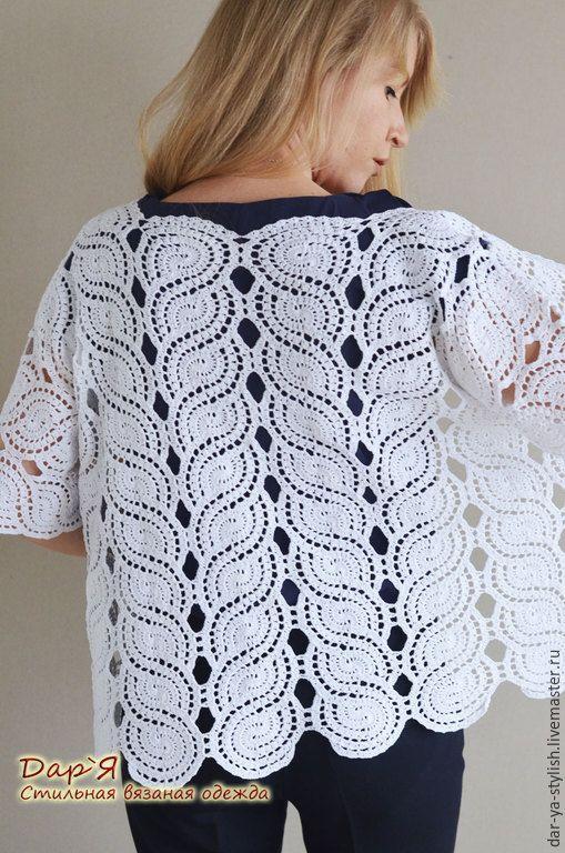 Jasmin white crochet jacket