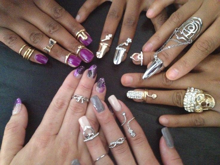 Midi rings and nailrings from Nailcandi  www.nailcandi.co.za