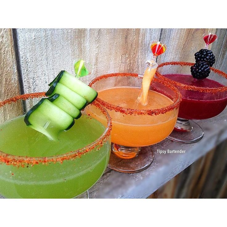 FRESH FRUIT TEQUILA-TINI'S CUCUMBER: 2 oz. (60 ml) Tequila 1/4 oz. (7.5 ml) Fresh Lime Juice 1/4 oz (7.5ml) Lemon Juice Cumber Slices Blend without ice Strain Shake with Ice and Pour Top off with Squirt Soda CANTALOUPE: 2 oz. (60 ml) Tequila 1/4 oz. (7.5 ml) Fresh Lime Juice 1/4 oz (7.5ml) Lemon Juice Cantaloupe Chunks Blend without ice Strain Shake with Ice and Pour Top off with Squirt Soda BLACKBERRY: 2 oz. (60 ml) Tequila 1/4 oz. (7.5 ml) Fresh Lime Juice 1/4 oz (7.5ml) Lemon Juice …