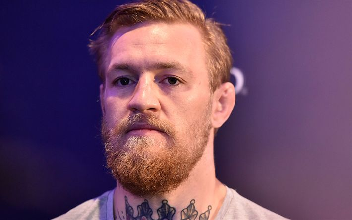 Hämta bilder Conor McGregor, UFC, Porträtt, skägg, Irländska fighter, boxning