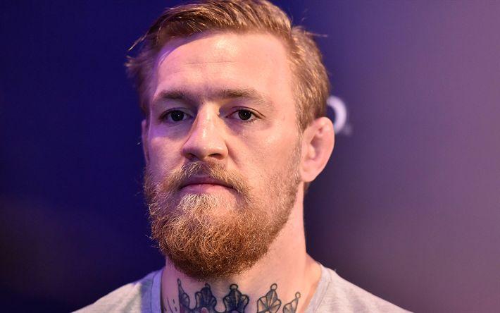 Download imagens Conor McGregor, UFC, Retrato, barba, Irish fighter, boxe