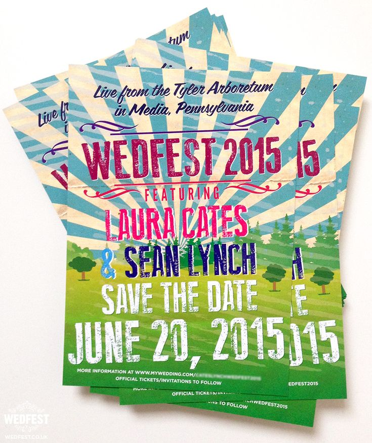 wedfest festival wedding save the date cards http://www.wedfest.co/festival-wedding-save-the-date-cards-wedfest-2015/