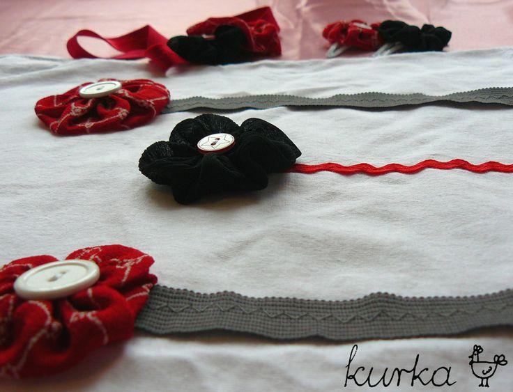 komplet handmade by kurka - czarny czerwony