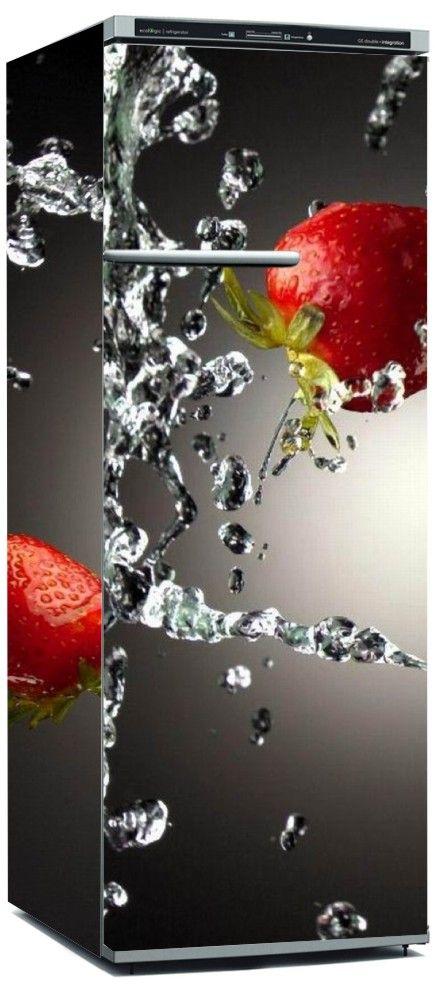 Envelopamento de Geladeira Fruta Morango - ENV0005