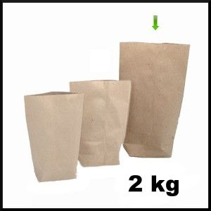 Torba papierowa EKO 2 kg (100 sztuk) WYPRZEDAŻ