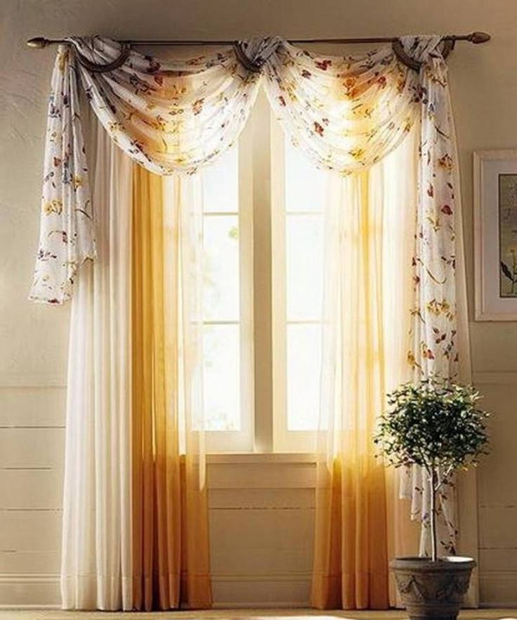 Sheer Window Scarf And Curtains Decorating With A Window Scarf Check More  At Http:/