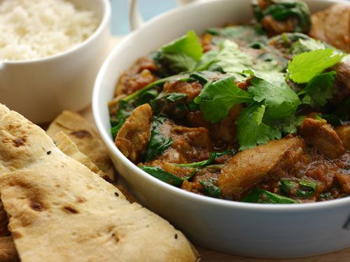 Recipe from Simon Rimmer for a classic chicken and spinach curry