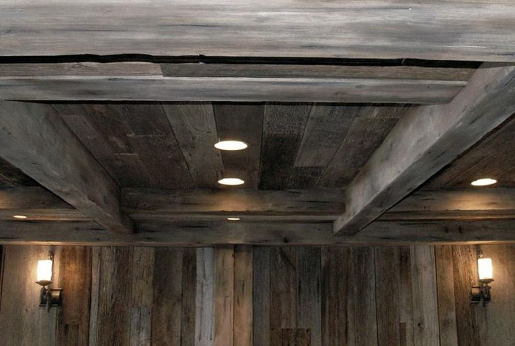 The Wall Is Actual Barn Wood And The Beams Are Poplar Box