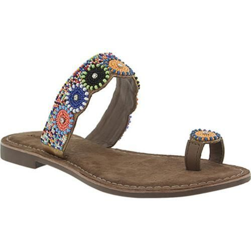 Women's Azura Glint Beaded Toe Ring Sandal