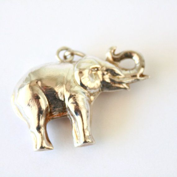 STERLING //// silver elephant Last one by PortugueseVintage