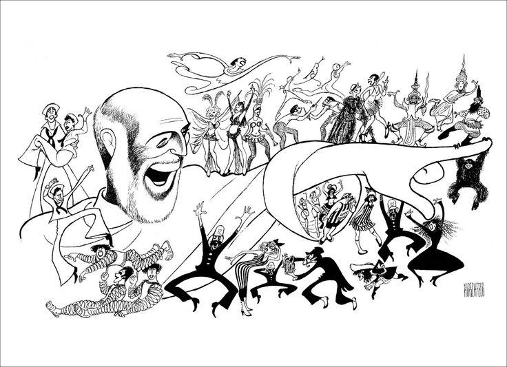 Details about Al Hirschfeld's JEROME ROBBINS' BROADWAY