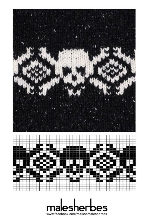 Pattern of the week. Happy Halloween!  <If you have any questions about the pattern or anything, please feel free to ask.> Please follow us on our FACKBOOK page, if you interested and also to know more about us and crochet, knitting, arts, fashion, movies and more… https://www.facebook.com/maisonmalesherbes/
