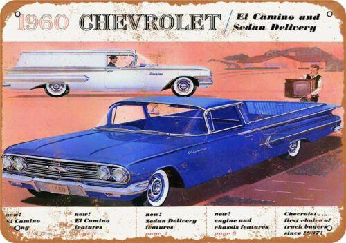 Metal Tin Sign 1960 Chevrolet Car Garage Bar Pub Home Vintage Retro Poster Plaques Signs Ebay Link In 2020 Chevrolet El Camino Chevrolet Chevrolet Sedan