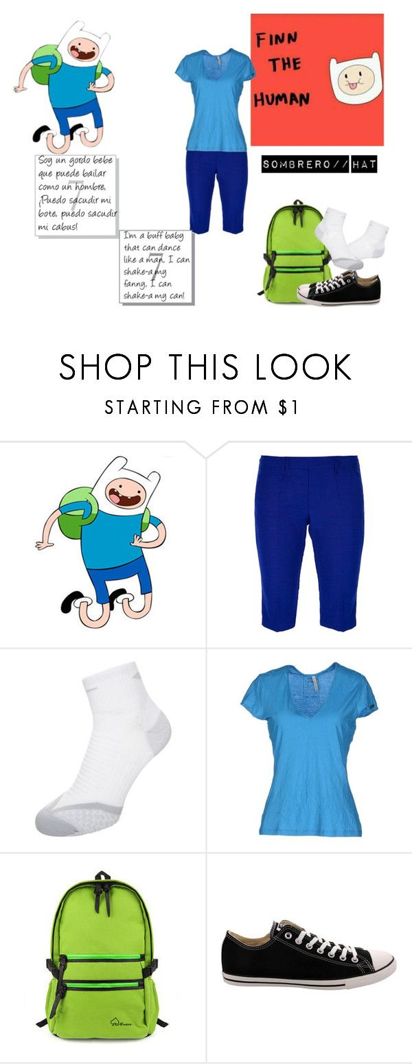 """""""Finn El Humano// Finn The Human, Adventure Time// Hora De Aventura"""" by gwen-box ❤ liked on Polyvore featuring Dondup, NIKE, MET, Mr.ace Homme and Converse"""