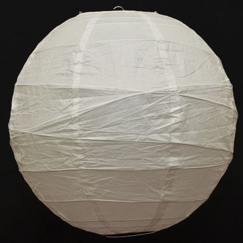 40cm White Irregular Ribbed Paper Lantern - Irregular Ribbed Lanterns - Lanterns | Lanternshop NZ