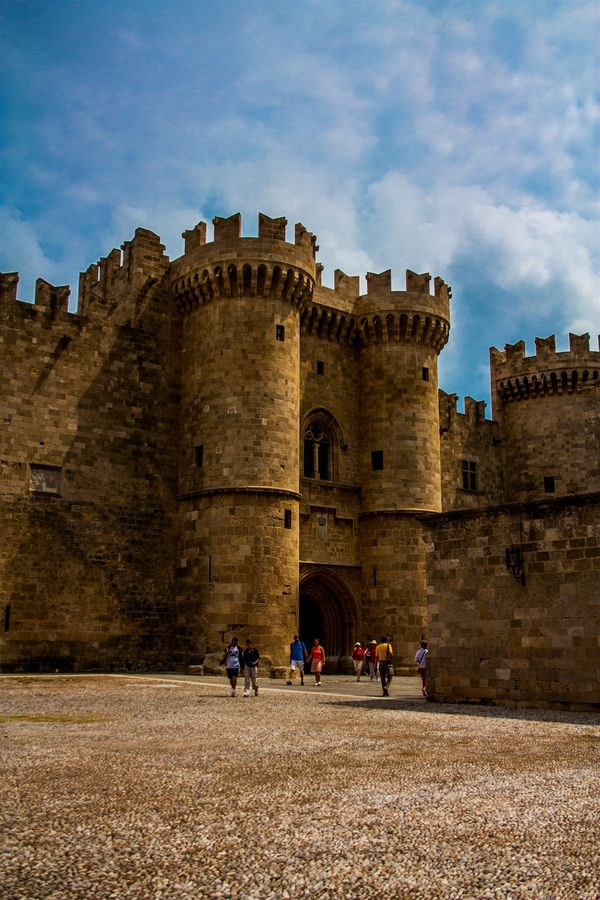 Greece, The main Gate of the Palace of the Grand Master of the Knights, a…