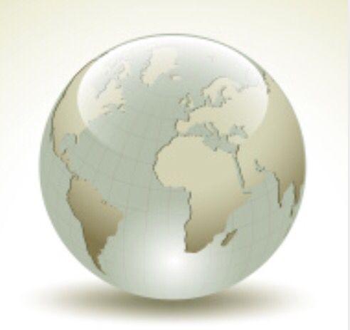 Planeta tierra, globo terraqueo