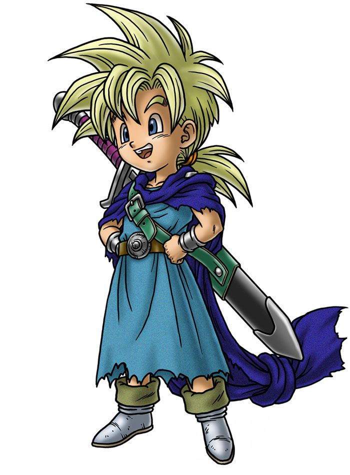 Hero's Son Parry - Characters & Art - Dragon Quest V: Hand of the Heavenly Bride | Suspicious Game | Anime. Jdr et Jeux