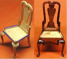 Chair QEEN ANN - how to make and carve legs to create this beautiful chair