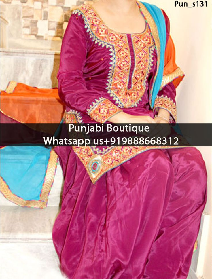 EnticingPurple Heavy Embroidered Punjabi Suit Product Code: Pun_s131 To order this dress , please call or WhatsApp us at +919888668312 We can design this Suit in any color combination or on any fabric (price may vary according to fabric)