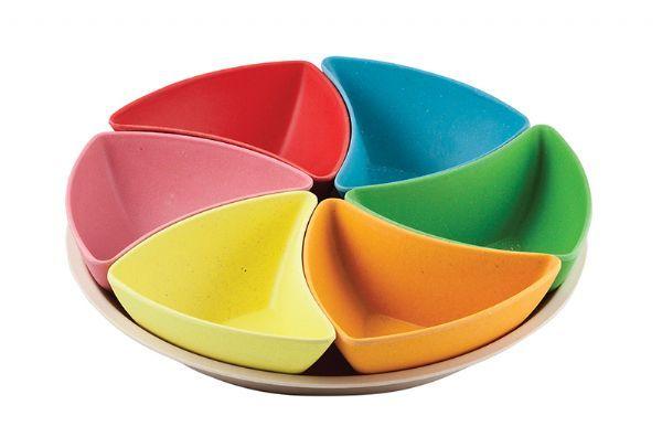 Tableware GE Bamboo Snack Plate CLEARAN