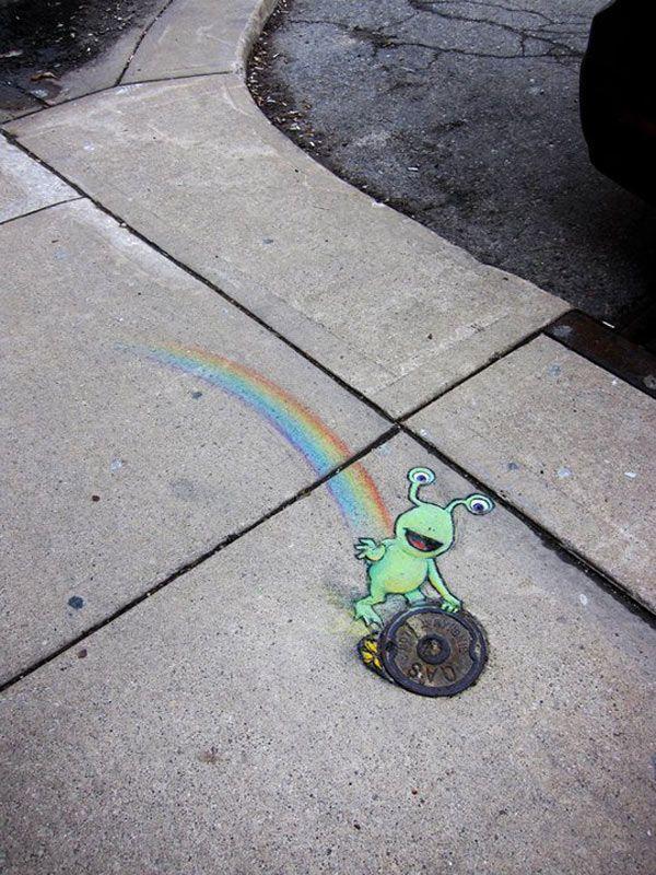 (link) 3D STREET ART: Amazing Street art of David Zinn Sluggo 92 ~~~ 70+ Sidewalk Chalk Art Of Sluggo By David Zinn | Amazing Street Art Collection ~ for more great PINs w/good links visit @djohnisee ~ have fun!