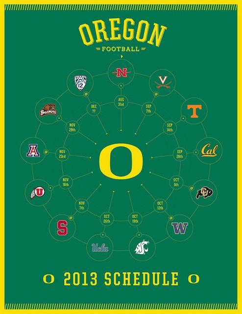 Oregon Ducks 2013 Football Schedule #goducks