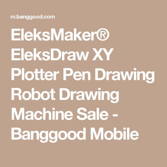 EleksMaker® EleksDraw XY Plotter Pen Drawing Robot Drawing Machine  Sale - Banggood Mobile