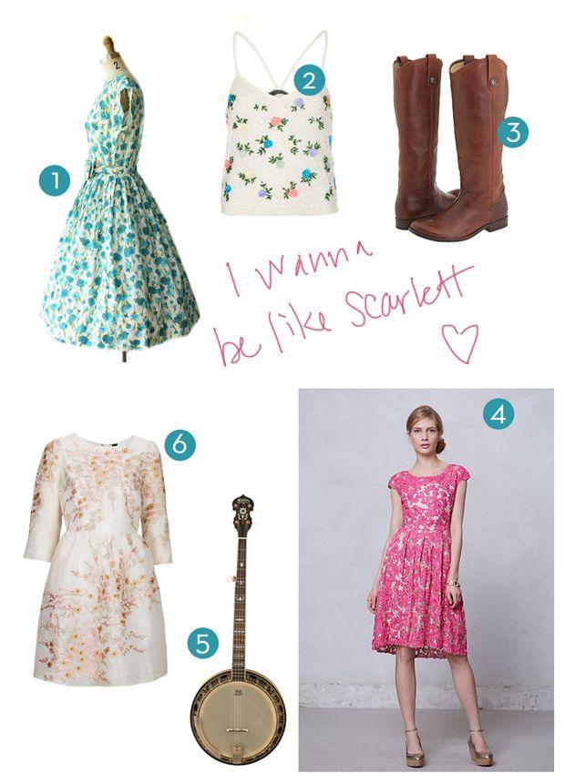 Scarlett o hara style dress country