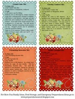 Food Storage Recipes, etc. Because of the focus in the LDS church on preparedness, a lot of this info refers to their holy books, etc.