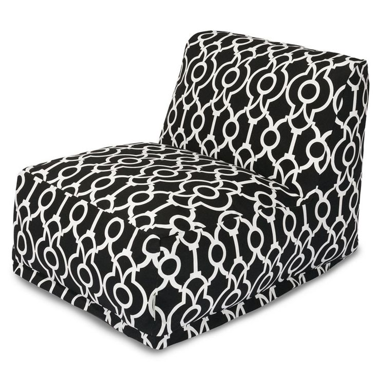 Majestic Home Goods 85907238041 Athens Black Bean Bag Lounger Chair
