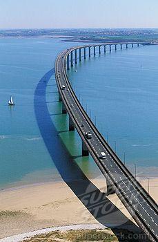 Bridge to Il de Re, Charente Maritime Poitou, Charente, France