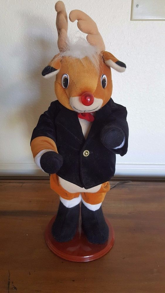 Rudolph Red Nosed Reindeer Dancing Musical Animated Nose lights up red #RudolphtheRedNosedReindeer