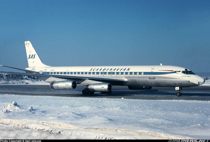 Scandinavian Airlines - SAS - McDonnell Douglas DC-8-62CF - Stockholm - Arlanda (ARN / ESSA) - Sweden, February 16, 1979 - Photographer: Kjell Nilsson