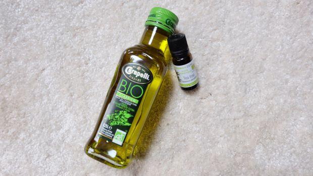 huile d'olive + HE de Tea Tree contre les poux