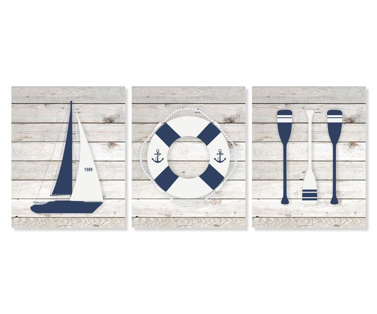 Nautical Art Prints, Boat, Life Buoy, Oars Set of 3 - 5x7, 8X10, 11x14 Sailboat Art, Nautical Wall Art, Beach House Decor, Boys Room Art by Picturality on Etsy https://www.etsy.com/listing/262298995/nautical-art-prints-boat-life-buoy-oars