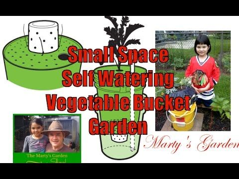 DIY Self Watering Small Space Vegetable Container Garden Project - YouTube