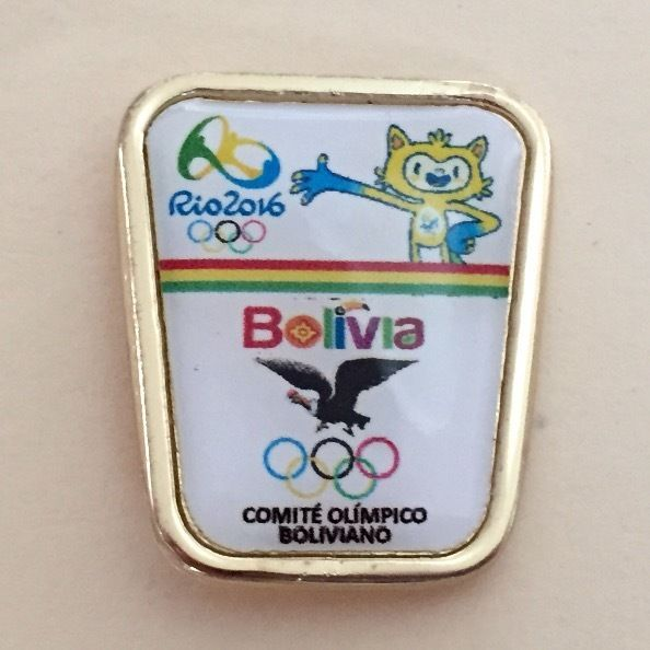 Bolivia NOC Olympic Team Pin dated Rio 2016 - with Vinicius Mascot  | eBay