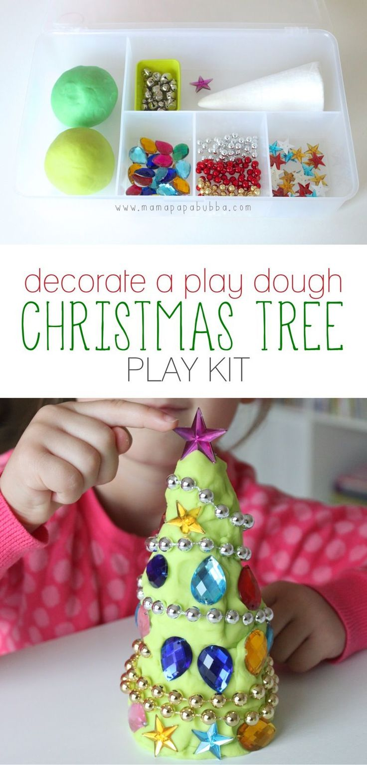 Decorate A Play Dough Christmas Tree Play Kit | Mama.Papa.Bubba.